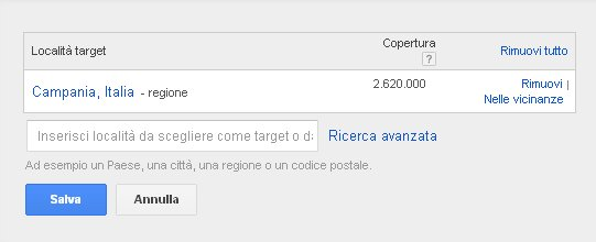 targeting adwords